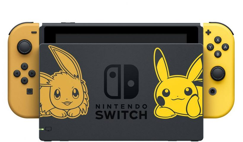 nintendo switch pikachu